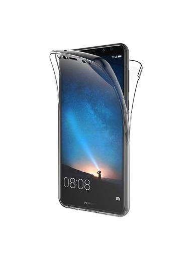 Microsonic Huawei Mate 10 Lite Kılıf 6 tarafı tam full koruma 360 Clear Soft  Renksiz
